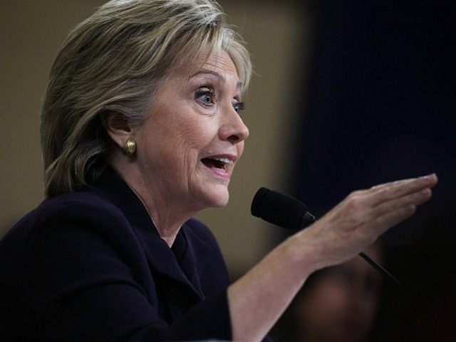 Democratic presidential candidate and former Secretary of State Hillary Clinton testifies before the House Select Committee on Benghazi October 22, 2015 on Capitol Hill in Washington, DC. The committee held a hearing to continue its investigation on the attack that killed Ambassador Chris Stevens and three other Americans at the …