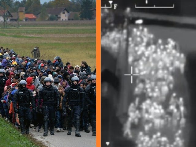 Croatia Helicopter Migrants