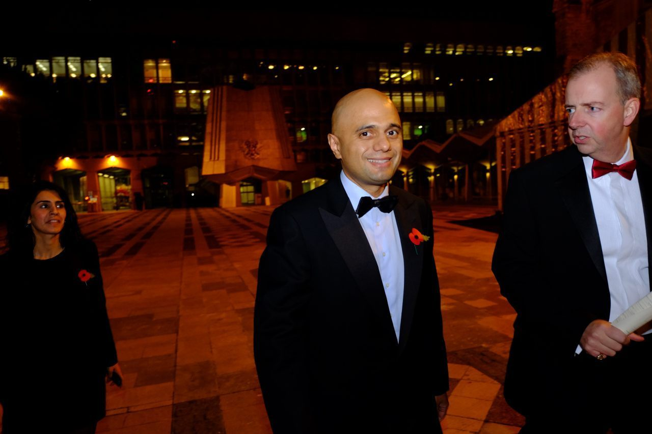 Sajid Javid MP Arrives  (Breitbart London/Rachel Megawhat)