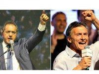 Daniel Scioli y Mauricio Macri AP Photos