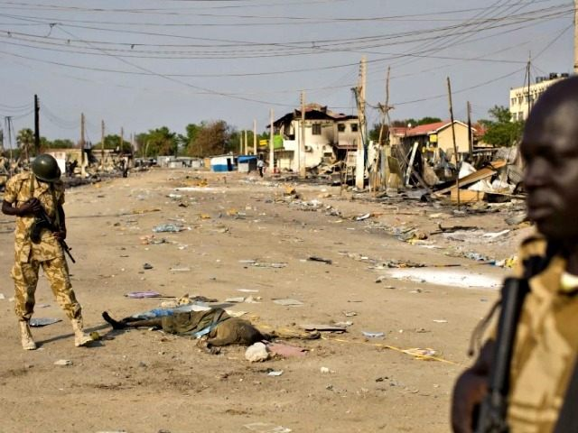 Dead Body in Street South Sudan AP