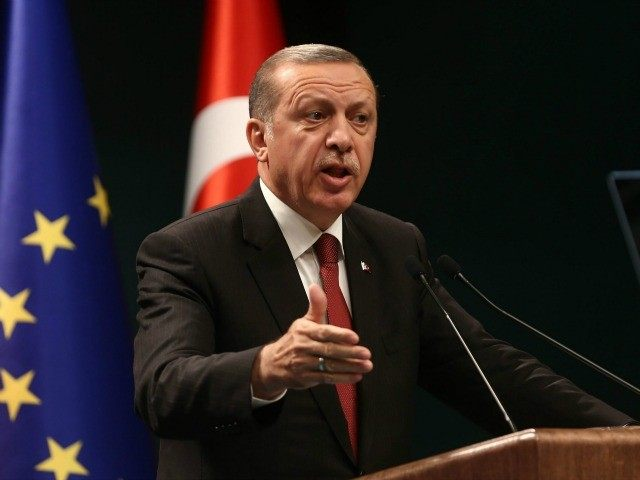 Turkey's President Tayyip Erdogan speaks during a joint press conference with European Council President in Ankara, Turkey, September 9, 2015.
