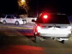 Crime scene of a shooting near the Texas border