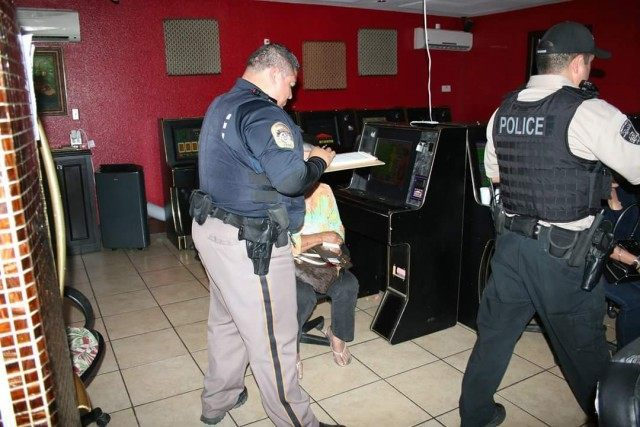 Authorities gave citations to those playing in the underground casino and arrested those in charge.