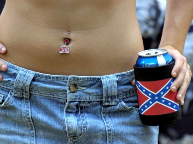 Georgia Girl Confederate Flag Stephen Morton Getty