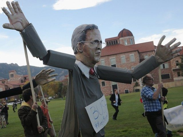 Activists Demonstrate Outside Of The Republican Presidential Debate In Boulder
