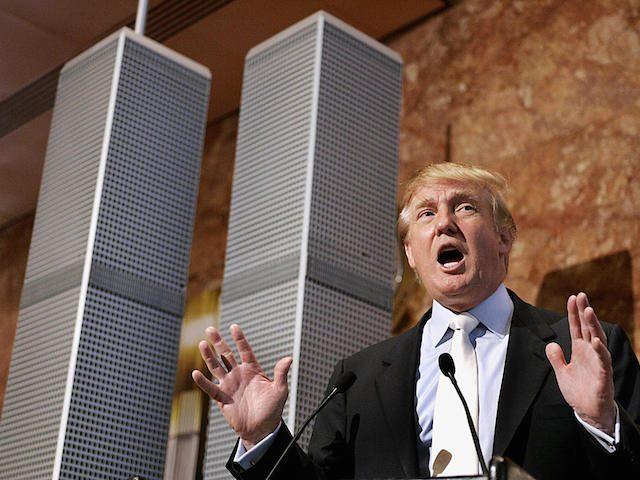 Real estate developer Donald Trump holds
