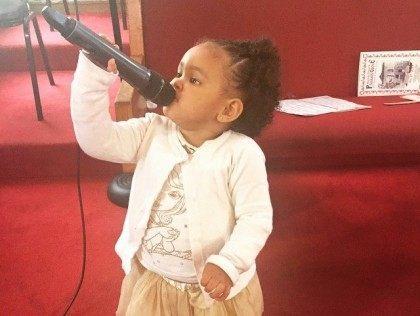 Girl sings at Pleasant Grove Baptist Church (Facebook)