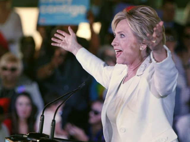 Democratic presidential candidate Hillary Clinton addresses supporters at a 'Latinos for Hillary' grassroots event October 15, 2015 in San Antonio, Texas.