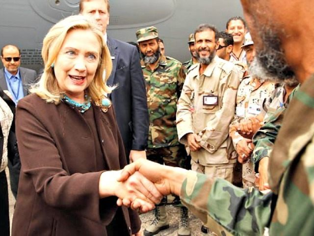 Hillary Clinton in Libya Reuters