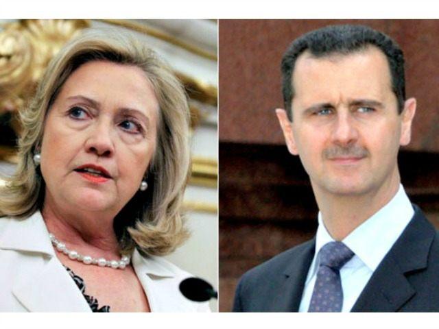Hillary and Assad AP Photos