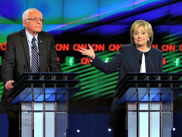 Hillary and Bernie Debate Getty Joe Raedle