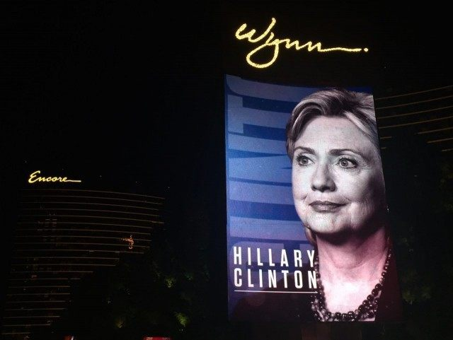 Hillary at Wynn Las Vegas Debate (Michelle Moons / Breitbart News)