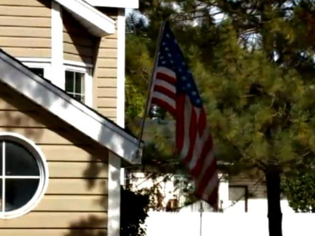 Homeowner Flies Flag WGN TV