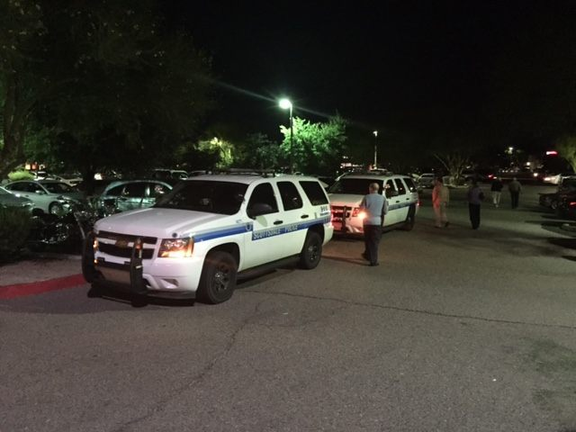 Police from two different departments arrive at K O'Donnell's. (Photo: Breitbart News/AWR Hawkins)