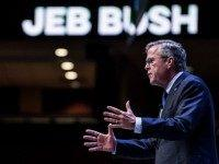 Former Florida Governor and republican presidential candidate Jeb Bush speaks to voters at the Heritage Action Presidential Candidate Forum September 18, 2015 in Greenville, South Carolina. Eleven republican candidates each had twenty five minutes to talk to voters Friday at the Bons Secours Wellness arena in the upstate of South …