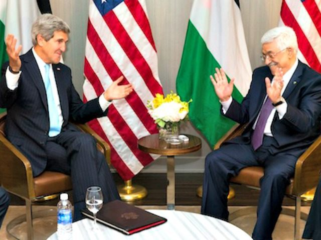 Kerry and Abbas AP