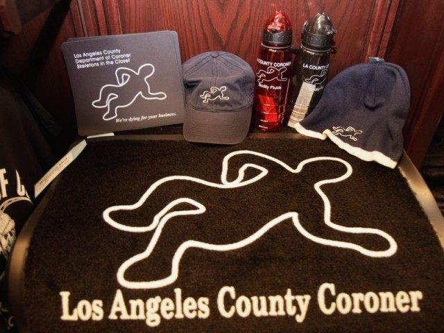 L.A. Coroner gear (Associated Press)