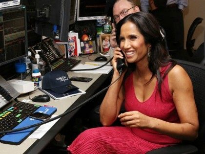 TV personality Padma Lakshmi attends the annual Charity Day hosted by Cantor Fitzgerald and BGC at Cantor Fitzgerald on September 11, 2015 in New York City. (Photo by