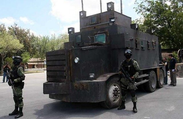 FIle photo of a Zeta armored truck seized by the Mexican government