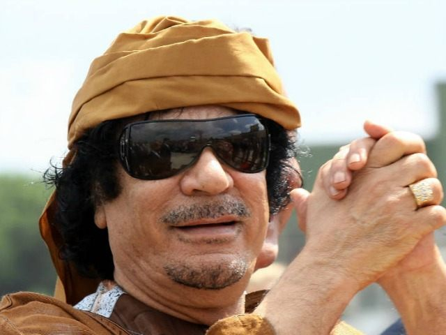 Libyan leader Muammar Gaddafi arrives at Ciampino airport on August 29, 2010 in Rome, Italy. (Ernesto Ruscio/Getty Images)