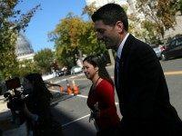 Paul Ryan (R-WI) leaves Capitol Hill October 23, 2015 in Washington, DC. Ryan agreed yesterday evening to place his name in contention for the position of Speaker of the House after receiving support from a majority of the Republican caucus groups in the House of Representatives. (Photo by