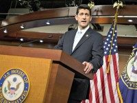 Paul Ryan with Flags Andrew Harnik, AP