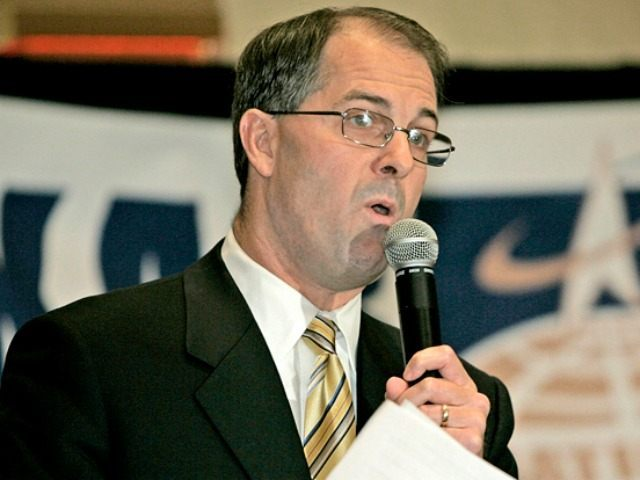 Kansas Attorney General Phill Kline answers questions during a debate at the Prairie Band Casino near Mayetta, Kan., Tuesday, Oct. 24, 2006.
