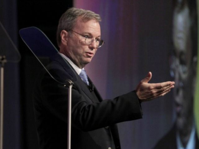 Google Executive Chairman Eric Schmidt speaks at the Conference on Internet Freedom in The Hague, on December 8, 2011. US Secretary of State Hillary Clinton warned Internet firms to avoid offering the 'tools of oppression' to authoritarian Middle East regimes trying to crush democracy protests.AFP PHOTO/POOL/J. Scott Applewhite (Photo credit …