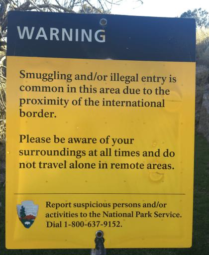 Warning Sign, U.S.-Mexico Border