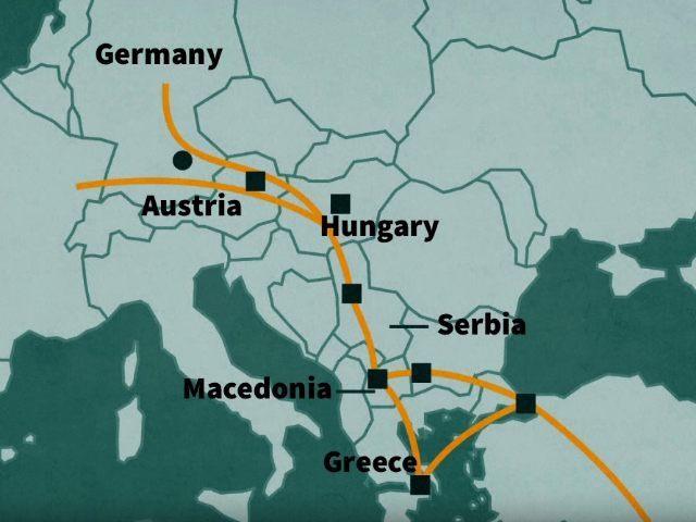 migrant routes into europe