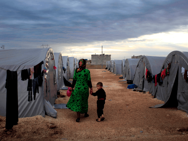 Syrian mother child family refugee camp turkey