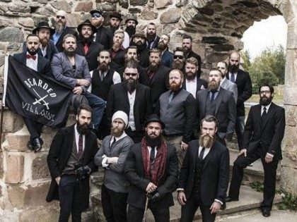 Bearded Hipsters Posing with Black Flag Surprised to Be Mistaken for ISIS