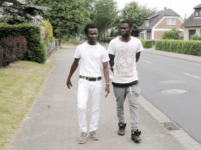 Migrants arrive in Saxony