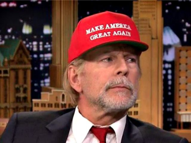 Bruce Willis Sports Donald Trump Hat on Tonight Show