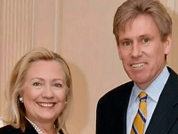 Hillary Clinton and Ambassador Chris Stevens (State Department)