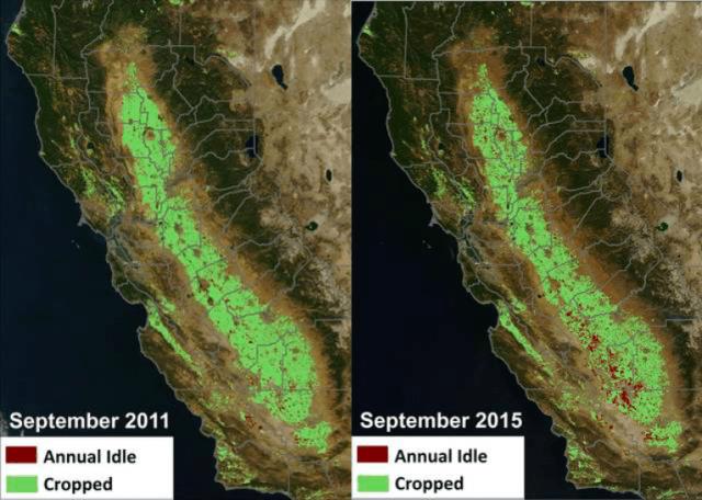 California idle farmland (NASA)