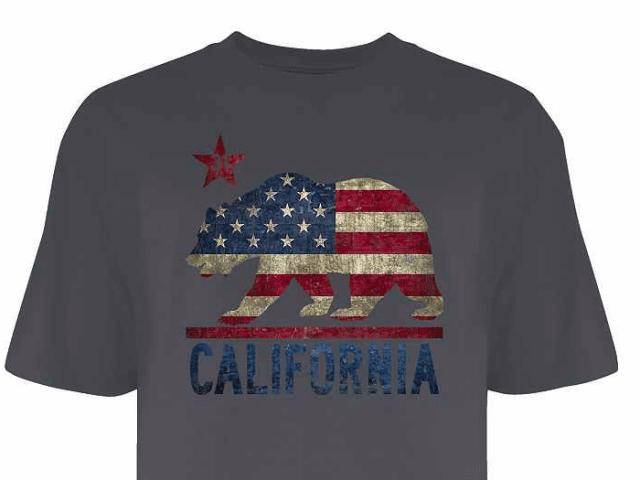 """California flag t-shirt """"gang-related"""" (Kohl's)"""