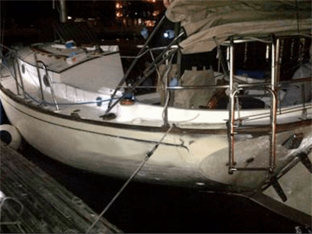Illegal Alien smuggling sailboat (Michelle Moons / Breitbart News)