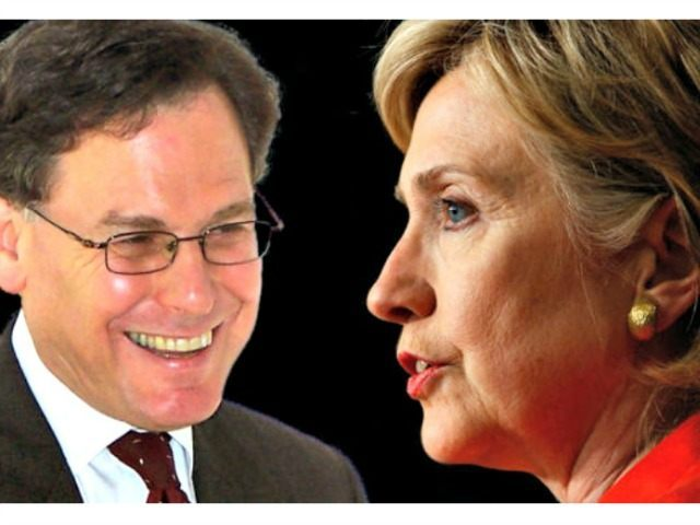 Sidney Blumenthal (L) and Hillary Clinton AP