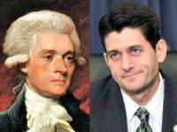 Thomas Jefferson (L) and Paul Ryan AP Photos