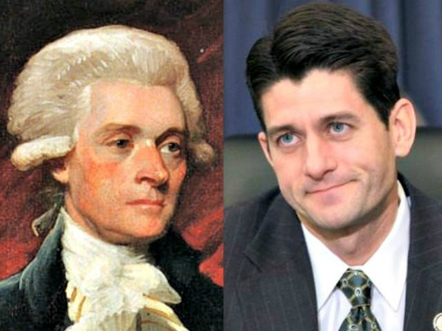Thomas Jefferson (L) and Paul Ryan AP Photos