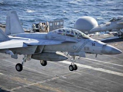 USS Ronald Reagan Aircraft Landing Kim Hong-ji AP