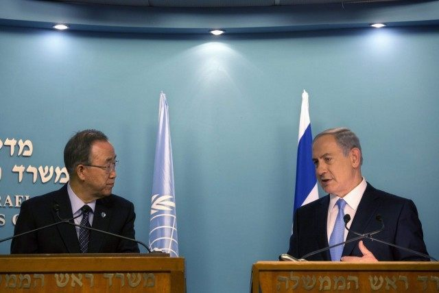 Ban Ki-moon, Benjamin Netanyahu,