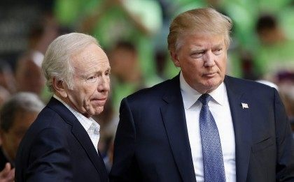 Donald Trump, Joe Lieberman