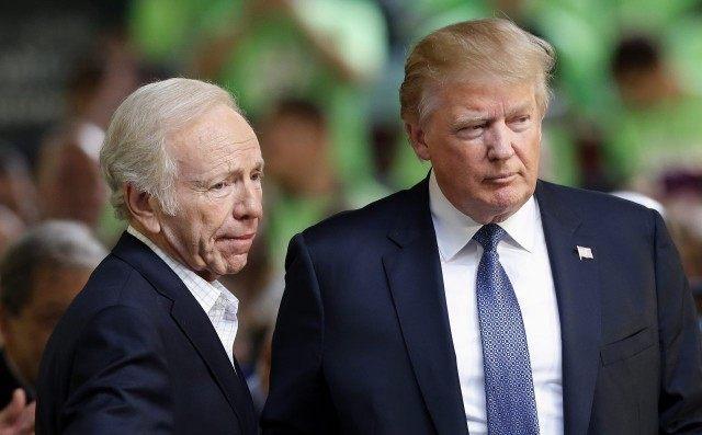 Donald Trump, Joe Lieberman