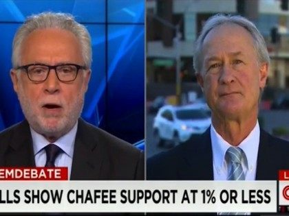 """Wednesday on CNN's """"Wolf,"""" Democratic presidential candidate former Gov.Lincoln Chafee …"""