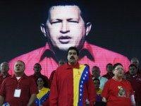 Venezuela President Nicolas Maduro with Hugo Chavez