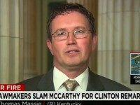 "Thursday on CNN's ""At This Hour,"" Rep. Thomas Massie (R–KY) …"