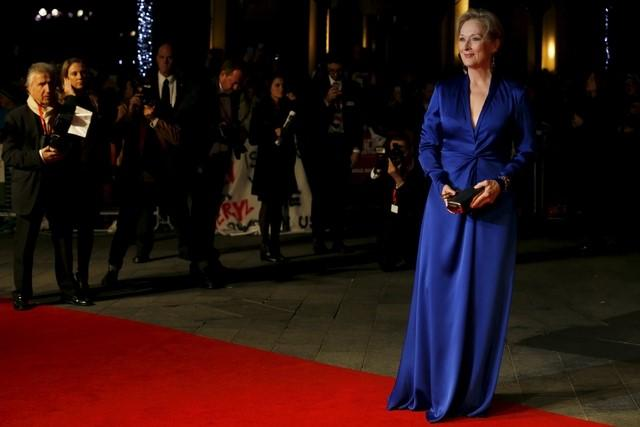 "Actress Meryl Streep arrives for the Gala screening of the film ""Suffragette"" for the opening night of the British Film Institute (BFI) Film Festival at Leicester Square in London"